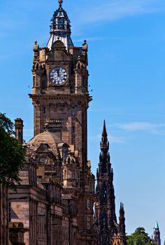 Clock Tower Edinburgh Scotland by Randy Dorman