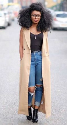 It is that time of the year when we take a look at what hair butters, oils, sham. It is that time Mode Outfits, Fall Outfits, Casual Outfits, Hijab Outfit, Mode Style, Style Me, Style Hair, Curly Hair Styles, Natural Hair Styles
