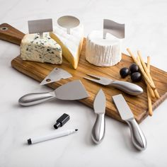 Our Fromagerie Cheese Knife Set with Markers is a great addition to any cheese board.