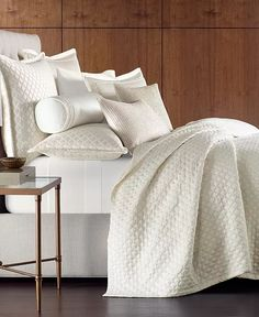 Hotel Collection - Ivory Bedding, Textured Bedding, Hotel Collection Bedding, Smart Furniture, Quilted Bedspreads, Mattress Brands, Queen Duvet, My New Room, Bedding Collections