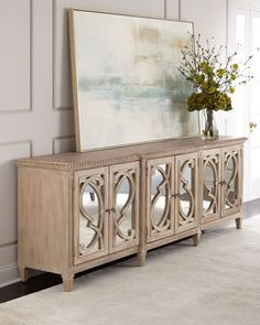 Lonnie 6 Door Mirrored Console. Dining Room ...