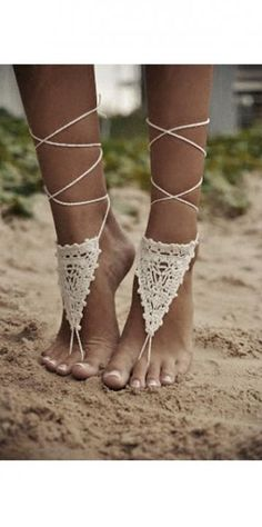 Crochet Anklets / Wedding Style Inspiration / LANE (PS Follow The LANE on instagram: the_lane)