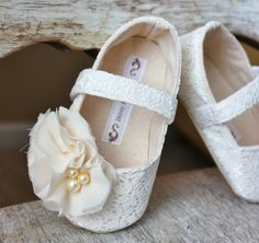 Toddler/Big Girl Shoes Soft Soled Shoes Wedding by BitsyBlossom