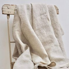 Washed linen and cotton sheets, pillow covers, throws, blankets and table linens. Textiles, Formation Photo, Fog Linen, Cotton Sheets, Beige, Natural Linen, Sustainable Fashion, Sustainable Style, Collages