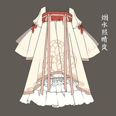 A design sketch for the nascent Han Lolita subgenre, a response to the hanfu derivation to the lolita fashion genre.