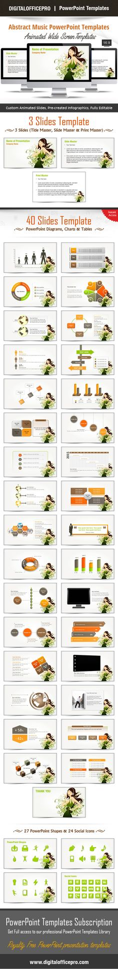 Lucky Girl PowerPoint Template Backgrounds Girls, Shape and Set of - 3d powerpoint template