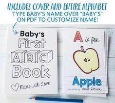 Baby Shower Games Printable ABC Coloring Book Alphabet Activity Printables PDF 85x11