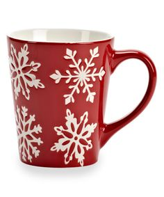 Look at this Abbott Red Snowflake Mug on #zulily today!
