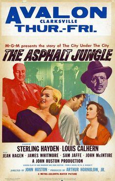 The Asphalt Jungle | US Window Card, 1950