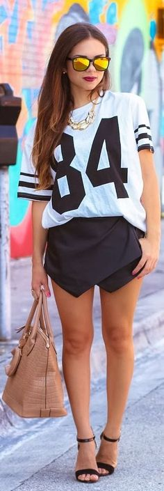 #sporty #chic!! by Nany's Klozet...if ur going to make me watch football I might as well look cute while I do.