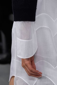 White wavy panelled dress; closeup fashion details //  Christian Dior Spring 2016