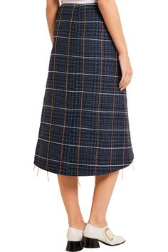 addb946fc908 Shop on-sale Victoria Beckham Embroidered houndstooth wool skirt. Browse  other discount designer Skirts