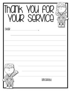 this is a cute little freebie writing activity to have your students do for veterans day these letters can be sent to deployed soldiers your local