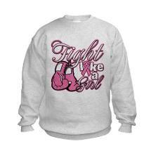 Scripted Fight Like a Girl Sweatshirt