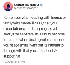 Mental Health Recovery, Chance The Rapper, Mental Illness, Mental Health