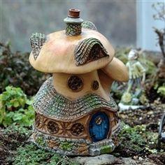 Mushroom Cottage for your Miniature Fairy Garden