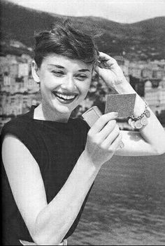 Audrey Hepburn in Monaco for the production of 'Monte Carlo Baby', 1952.