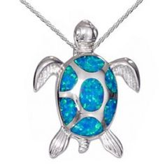 Sterling Silver Sea Turtle necklace with Lab Opal inlay and choice of chains. Sea Turtle Jewelry, Turtle Necklace, Sea Turtle Gifts, Washer Necklace, Pendant Necklace, Jewelry Collection, Belly Button Rings, Gems, Bling