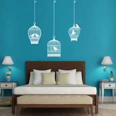Birdcages Wall Decal - hardtofind.