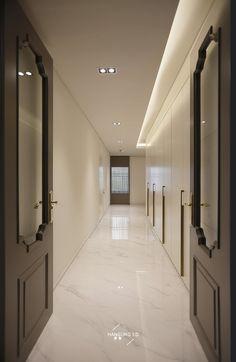 분당 정자동 파크뷰 인테리어 (48py) Worked by Hansung I.D - #40평대아파트인테리어 #40평대아파트리... House Ceiling Design, Ceiling Light Design, Floor Design, House Design, Lobby Interior, Apartment Interior, Apartment Design, Interior Architecture, Entrance Design