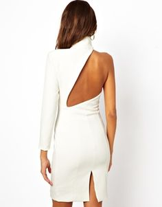 Evangalista Dress With One Sleeve And Cut Out Back