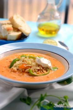 HUMMUS SOUP WITH RICE - 20 MINUTE DINNER
