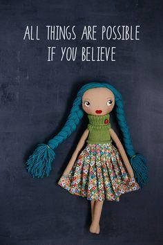 Suzana handmade OOAK doll art doll cloth doll rag doll