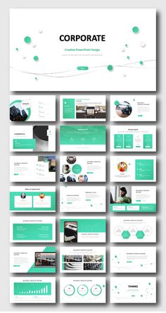 2 in 1 Minimal Blue & Green PowerPoint Template – Original and high quality PowerPoint Templates dow - Pony Frisur Powerpoint Design Templates, Professional Powerpoint Templates, Flyer Template, Templates Free, Powerpoint 2010, Creative Powerpoint, Presentation Design Template, Presentation Layout, Booklet Design