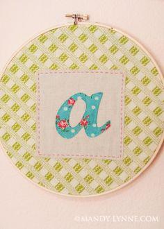 monogram embroidery art