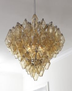 Amber Glass Chandelier at Horchow.