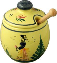 Quimper Mustard Pot - Soleil Yellow