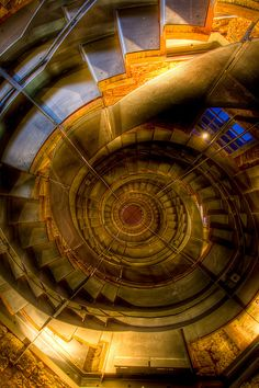Spiral Staircase in the lighthouse of Glasgow, Scotland by Davey mcn