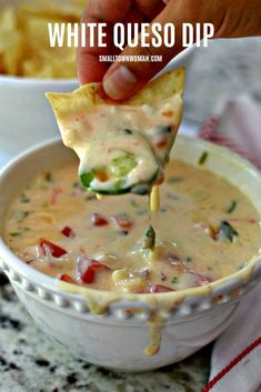 White Queso Dip Delicious restaurant quality white dipping cheese that can be refrigerated and reheated multiple times. Cheese Appetizers, Appetizer Dips, Yummy Appetizers, Mexican Appetizer Recipes, Pimento Cheese Recipes, Party Appetizers, Delicious Restaurant, Cooking Recipes, Healthy Recipes