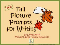 FREE picture prompts for fall writing