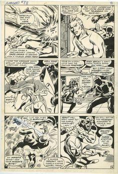 AVENGERS #83 PAGE 16 ( 1970, JOHN BUSCEMA ) THE LADY LIBERATORS TAKE ON THE MALE AVENGERS; PALMER INKS Comic Art