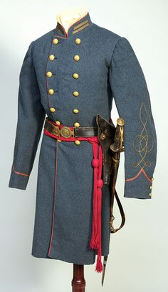 Confederate Lieutenant - Captain Charles W. Fry, Orange Artillery ANV. Fry wore this uniform while commanding a battery at White Oak Swamp until late 1862 when he was promoted to Captain. It was at Oak Hill near Gettysburg on July 1, 1863 that Fry earned his place in history commanding the batt. which fired on the Union XI Corps west of Gettysburg. Even more significant was his role in directing the Orange Artillery's shelling that preceded Pickett's famous charge at Gettysburg firing 880…
