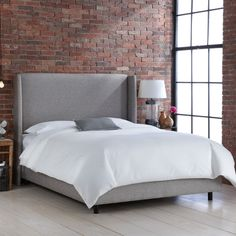 Cora Upholstered Panel Bed & Reviews | Joss & Main