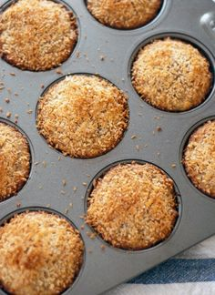 These naturally sweetened banana coconut muffins are a real treat. I bet you can't tell they're made with 100% whole wheat flour!