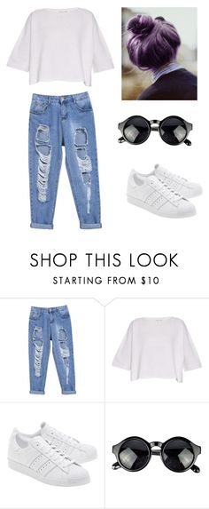"""Untitled #74"" by karenrodriguez-iv on Polyvore featuring Helmut Lang, adidas Originals, women's clothing, women, female, woman, misses and juniors"