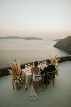 aenaonvillas-santorini-elopement_2 Pool Wedding, Elope Wedding, Destination Wedding, Wedding Venues, Dream Wedding, Wedding Ideas, Beautiful Sunset, Beautiful Beaches, Imerovigli Santorini