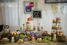 Whimsical yet elegant dessert table | www.SouthernBrideandGroom.com | Brooke Mayo Photographers