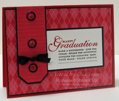 Happy Grad Masculine Graduation by genesis - Cards and Paper Crafts at Splitcoaststampers