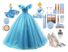 """""""60-second style: Disney character costume/cinderella"""" by melanielay ❤ liked on Polyvore featuring Hortense B. Hewitt and Bling Jewelry"""