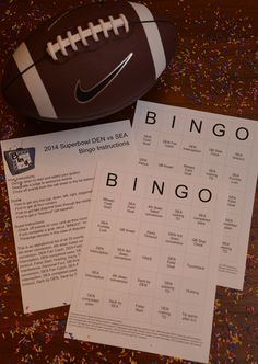 Printable 2014 Superbowl Bingo for the Denver Broncos vs Seattle Seahawks.  Fun for fans and non-fans plus easy to play!  #superbowl #printable