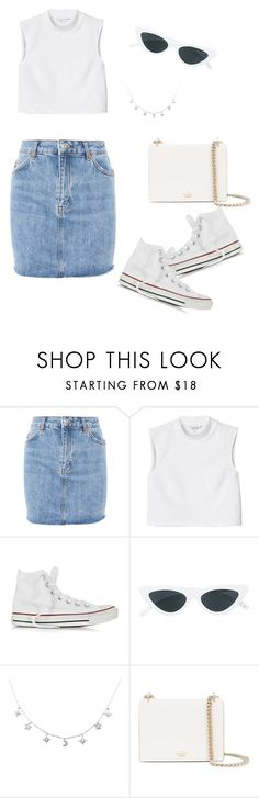 """#23"" by reileywhelen on Polyvore featuring Topshop, Monki, Converse, Le Specs and Kate Spade"