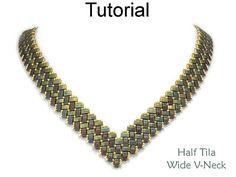 Miyuki Half Tila Two Hole Beads Beading Tutorial Pattern