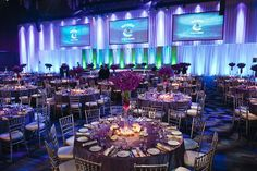 Remarkable, just amazing the up lighting, the tables sets, everything with this event design!