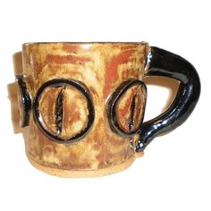 Eye Coffee Cup 34 With Dragon Eyes by Aaron Nosheny / Aberrant Ceramics on Etsy