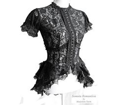 "gothaesthetic:    The Goth Aesthetic: ""Korinthe"" Black Lace Neo-Victorian Blouse by Somnia Romantica. $139."