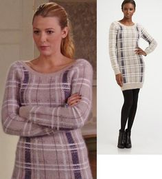 looks like an old high school outfit - luv it - Gossip Girl opened the show with an Opening Ceremony plaid sweater dress complete with Brian Atwood boots.